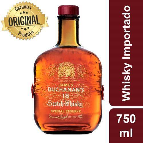 Whisky Escocês 18 Anos Garrafa 750ml - Buchanans