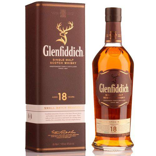 Whisky Glenfiddich 18 Anos Single Malte 750ml