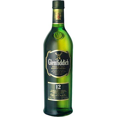 Whisky Glenfiddich Single Malt 12 Anos 750ml