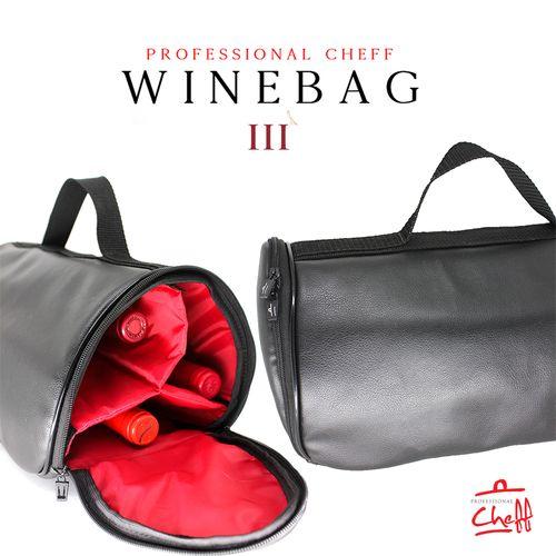 Wine Bag III - Bolsa para Vinhos Professional Cheff - Couro