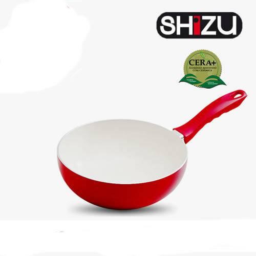 Wok Ceramica Vermelha 24cm - 3,0mm Shizu