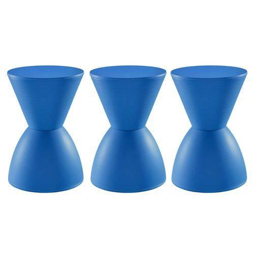 3 X Banquetas Tub - Prince - Azul
