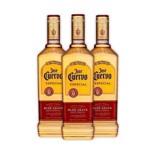 3x Tequilas Jose Cuervo Especial Reposado 750ml