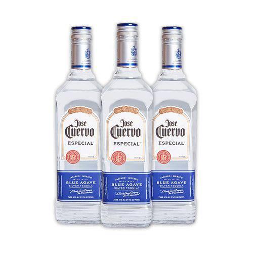3x Tequilas Jose Cuervo Especial Silver 750ml