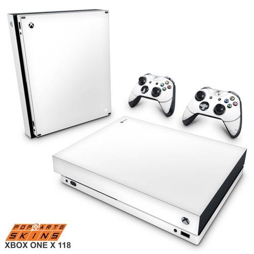 Xbox One X Skin - Branco Adesivo Brilhoso