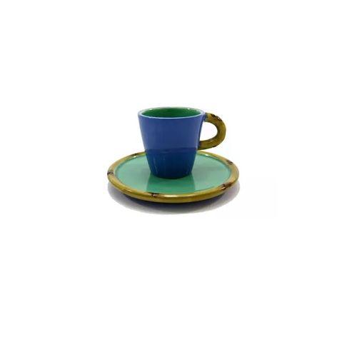 Xícara Azul Asia 6cm