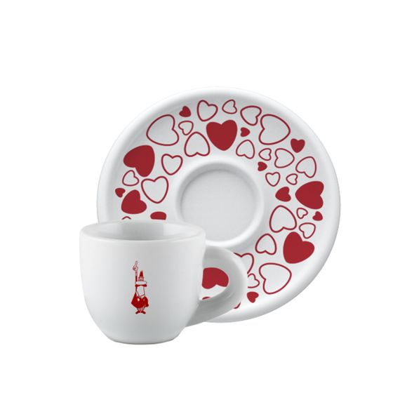 Xícara Cappuccino com Pires Porcelana Cuore 250ml Bialetti