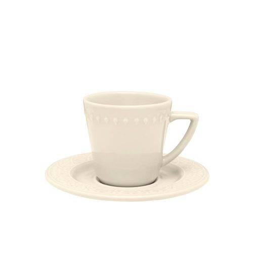 Xícara Chá 220mL com Pires Mendi Marfim Daily Oxford