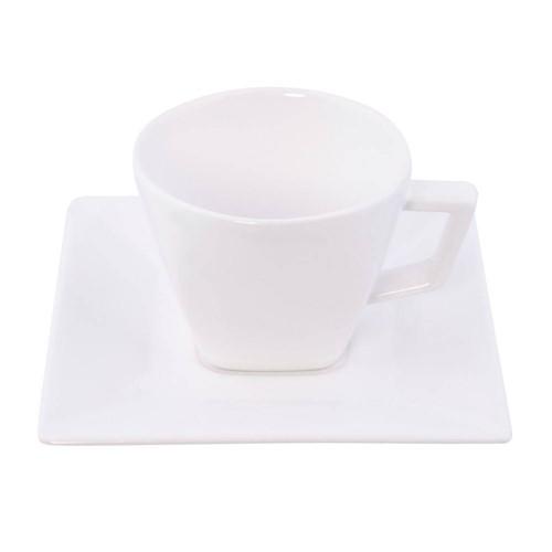 Xicara Chá com Pires Quartier White Oxford 200ml