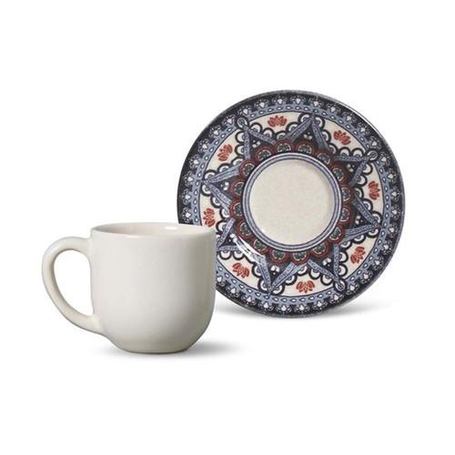 Xícara de Café Mônaco Constantinopla Cerâmica 6 Peças Porto Brasil