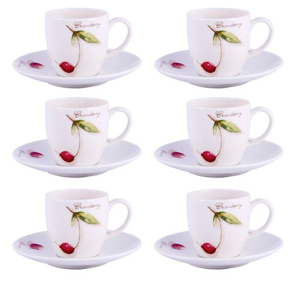 Xicara de Café Royal Porcelain Fresh Fruit 100ML 6 Peças - 30116