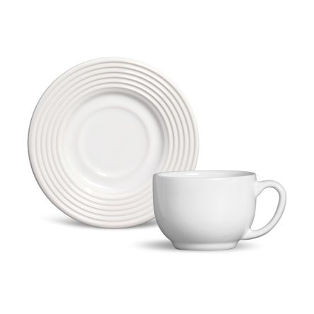 Xícara de Chá Argos Branco- 06 Unidades
