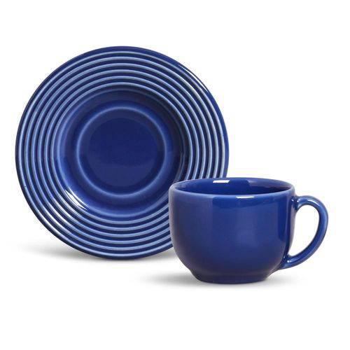 Xícara de Chá com Pires Argos Azul Navy