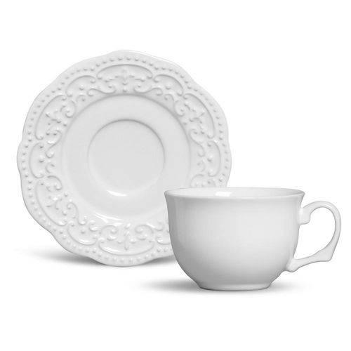 Xícara de Chá com Pires Passion Branco