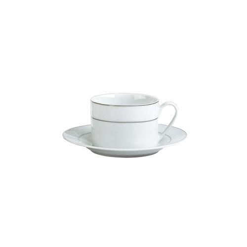 Xícara de Chá em Porcelana DmBrasil Prata 180ml 4221
