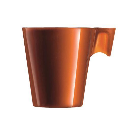 Xícara para Café em Vidro Caramelo 80ml Flashy Luminarc