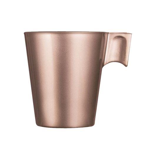 Xícara para Café em Vidro Rosa 80ml Flashy Luminarc