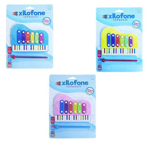 Xilofone Musical Infantil Teclado Colors na Cartela