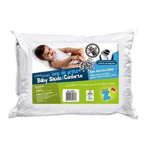 Z4271 Travesseiro Ions de Prata Baby Saúde e Conforto 30cm X 40cm