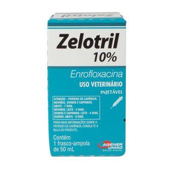 Zelotril 10% Injetável Agener 50ml (Enrofloxacina)