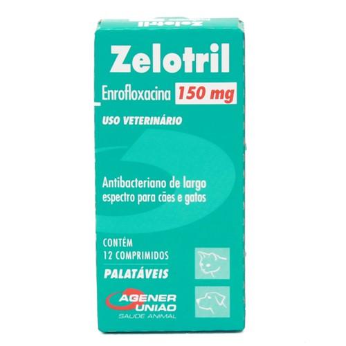 Zelotril 150mg para Cães e Gatos Uso Veterinário com 12 Comprimidos