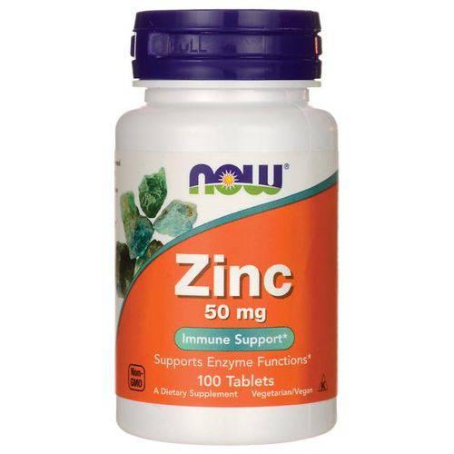 Zinco 50mg Now Foods 100 Tablets - Importado