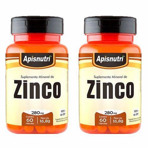 Zinco - 2 Un de 60 Cápsulas - Apisnutri