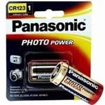 05 Bateria Cr123A 3V Lithium Photo Original Panasonic