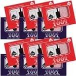 12 Baralhos Copag Estojo Duplo Modelo 1001 Plástico (Dúzia) - 6 Azul e 6 Vermelhos