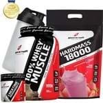 100% Whey/wei/wey/way Protein Concentrado+ Massa Hipercalórico 3kg + Creatina + Coqueteleira