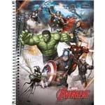 4 Cadernos Espiral Capa Dura Universitário 10 Matérias Avengers Assemble - 200 Folhas