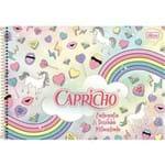 4 Cadernos para Desenho Capricho Unicórnio e Summer 96f - Tilibra