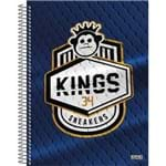 4 X Cadernos 1 Matéria Capa Dura 2019 Kings Sneakers 96 Folhas