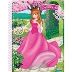 4 X Cadernos 1 Matéria Capa Dura 2019 Princesses Real.aument.3d 96 Folhas