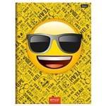 5 Cadernos Emoji Brochurão Capa Dura 96 Folhas Foroni