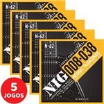 5 Encordoamento Nig P/ Guitarra 08 038 N62 Encapadas com Níquel