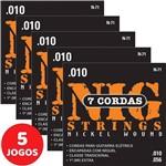 5 Encordoamento Nig P/ Guitarra de 7 Cordas 010 056 N71 Nickel Wound