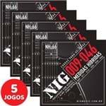 5 Encordoamento Nig P/ Guitarra Híbrido 09 046 NH66 Encapadas com Níquel