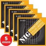 5 Encordoamento Nig P/ Violão Nylon Clássico Tensão Média N415