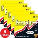 5 Encordoamento Rouxinol P/ Guitarra Elétrica 011 049 R81