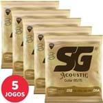 5 Encordoamento SG P/ Violão Aço 012 054 6687 Bronze 85/15 Medium