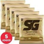 5 Encordoamento SG P/ Violão Aço 011 052 6686 Bronze 85/15 Custom Light