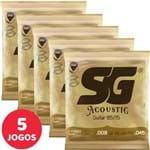 5 Encordoamento SG P/ Violão Aço 09 045 6684 Bronze 85/15 Extra Light