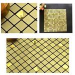 5 Papeis de Parede 3d Adesivo de Banheiro e Cozinha Dourado