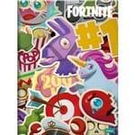 5 X Cadernos Brochurao Capa Dura Fortnite 96 Folhas Cada