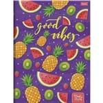 5 X Cadernos Brochurao Capa Dura Fruit Lovers 96 Folhas Cada