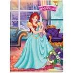 5 X Cadernos Brochurao Capa Dura Princesses Real.aument.3d 96 Folhas