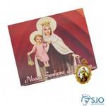50 Cartões com Medalha de Nossa Senhora do Carmo | SJO Artigos Religiosos