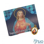 50 Cartões com Medalha do Sagrado Coração de Jesus | SJO Artigos Religiosos