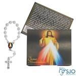 50 Cartões com Mini Terço de Jesus Misericordioso | SJO Artigos Religiosos